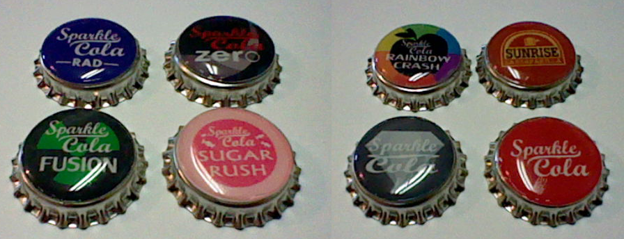 Fallout Equestria Bottle Cap set by lcponymerch