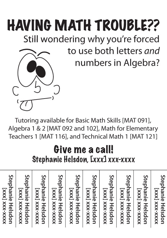 Tutoring Ad by funnychica07 on DeviantArt