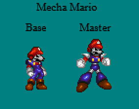 Mecha Mario Final Designs
