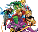 Battleworld Avengers (Earth-9811) Render