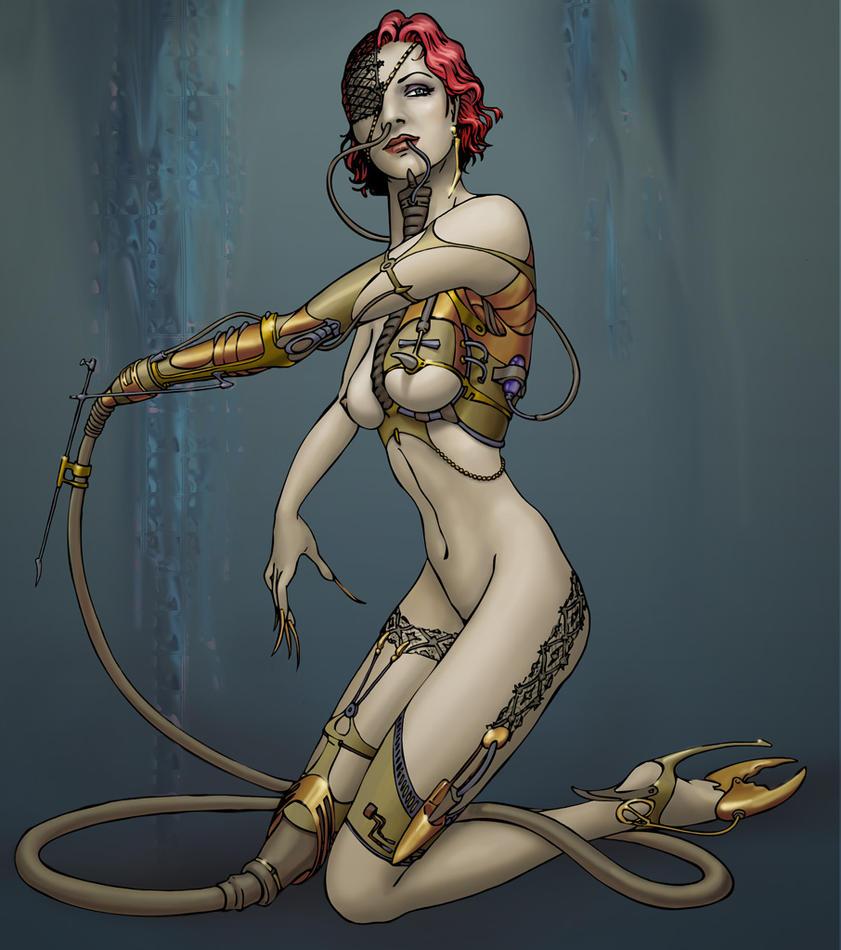 cyborg woman by tragaz