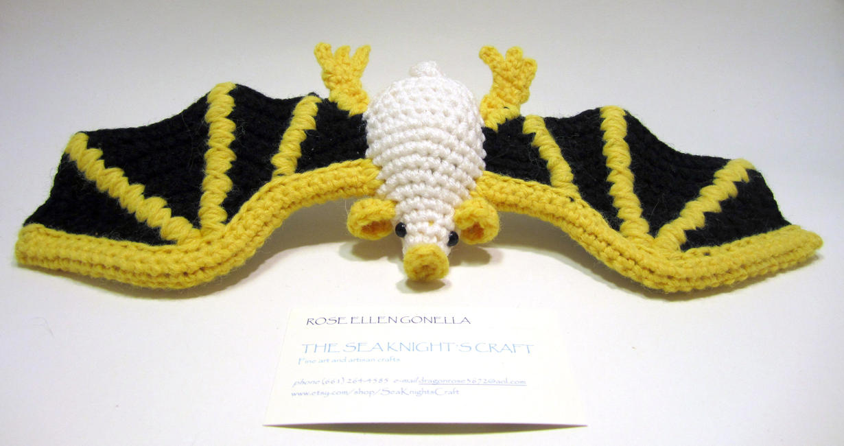 Amigurumi Dragon Wings : Amigurumi honduran white bat by theseaknight on deviantart