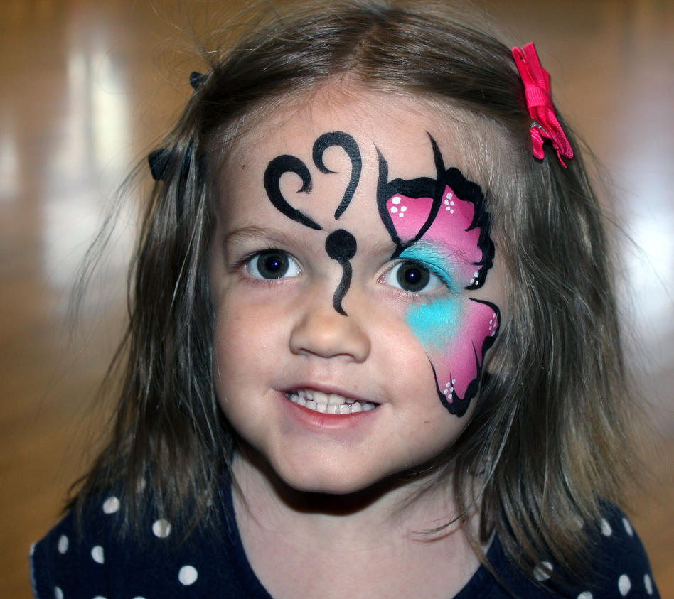 Butterfly Face Paint by TheSeaKnight