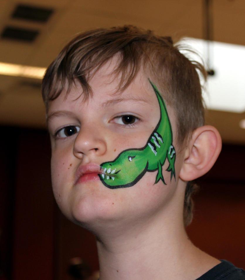 Dinosaur Face Paint by TheSeaKnight