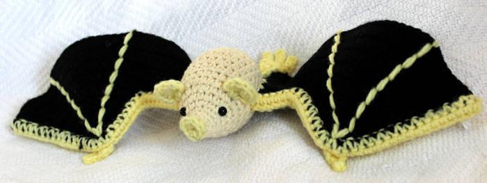 Amigurumi Honduran White Bat by TheSeaKnight