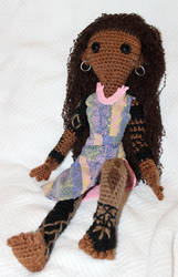 Marama - crochet amigurumi tattooed doll by TheSeaKnight