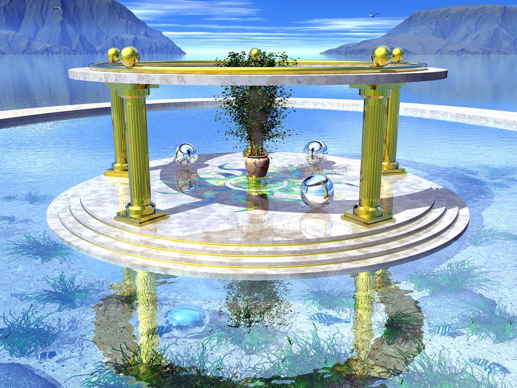 Atlantean Sun Shrine II by someole3d