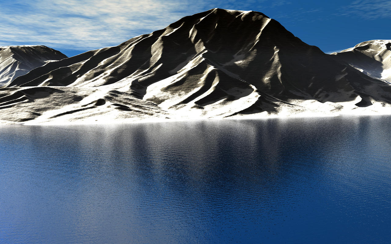 Snow on Bryce Mountain by someole3d
