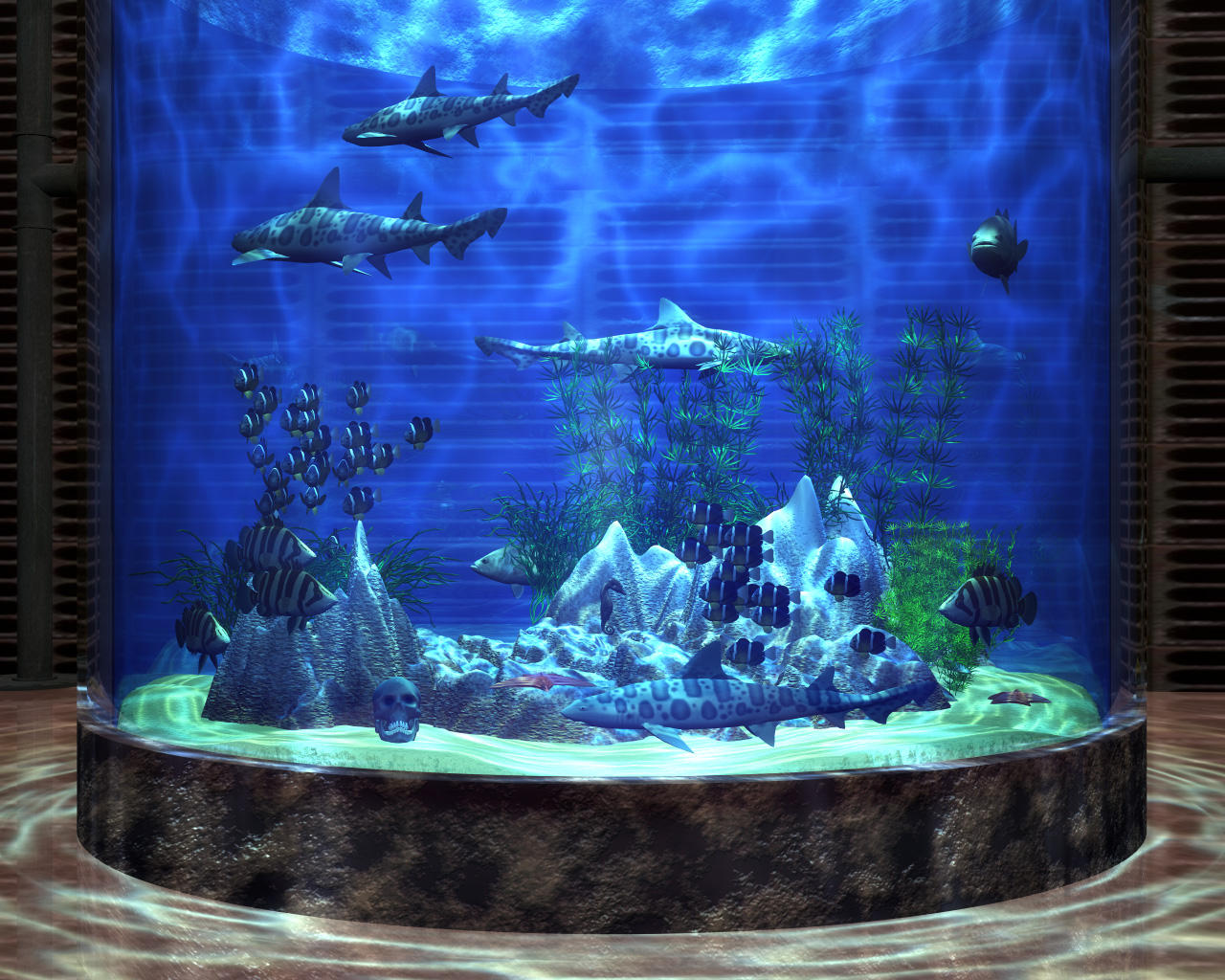 Bryce Aquarium II by someole3d