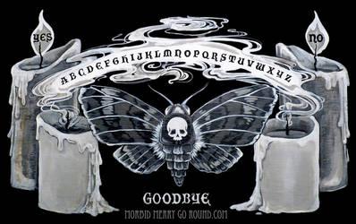 Moth Spirit Board by AlizarinJen
