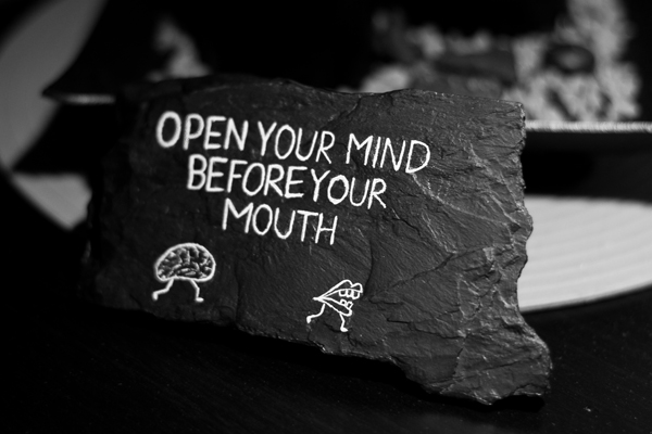 Open your Mind before your Mouth by UVVAN on DeviantArt