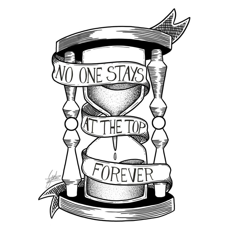 B/W No One Stays On The Top by Poppyshadow