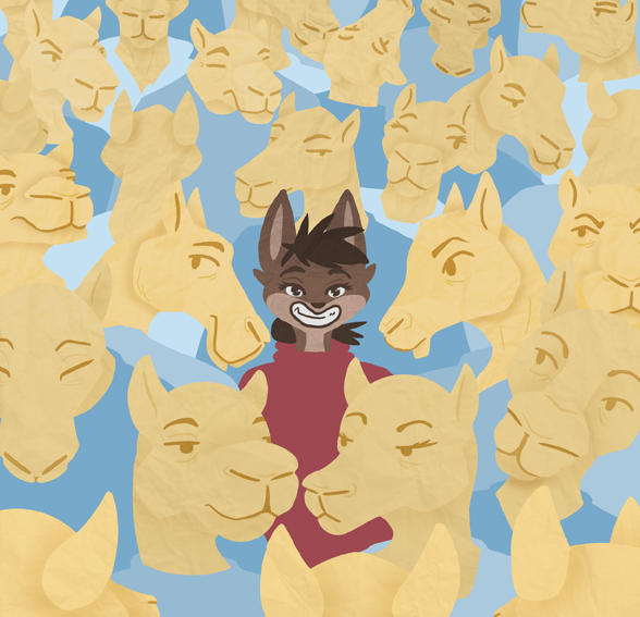 Cat in a Sea of Camels