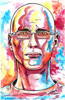Gary Yourofsky Watercolor Portrait by crowboy76