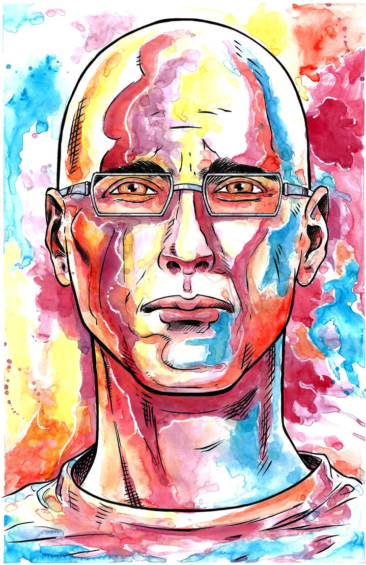 Gary Yourofsky Watercolor Portrait