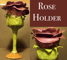 Rose candle holder by keykaye
