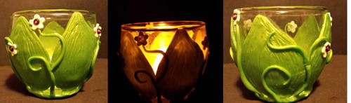Leafy Candle Holder by keykaye