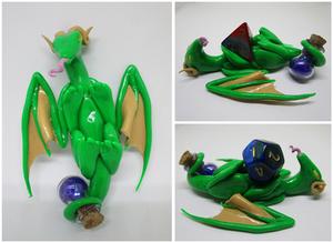 Green Dragon Dice Holder