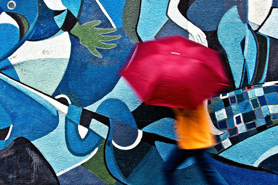 Red umbrella by vulezvrk