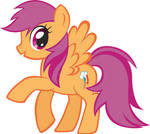 Rainbow Dash as Scootaloo