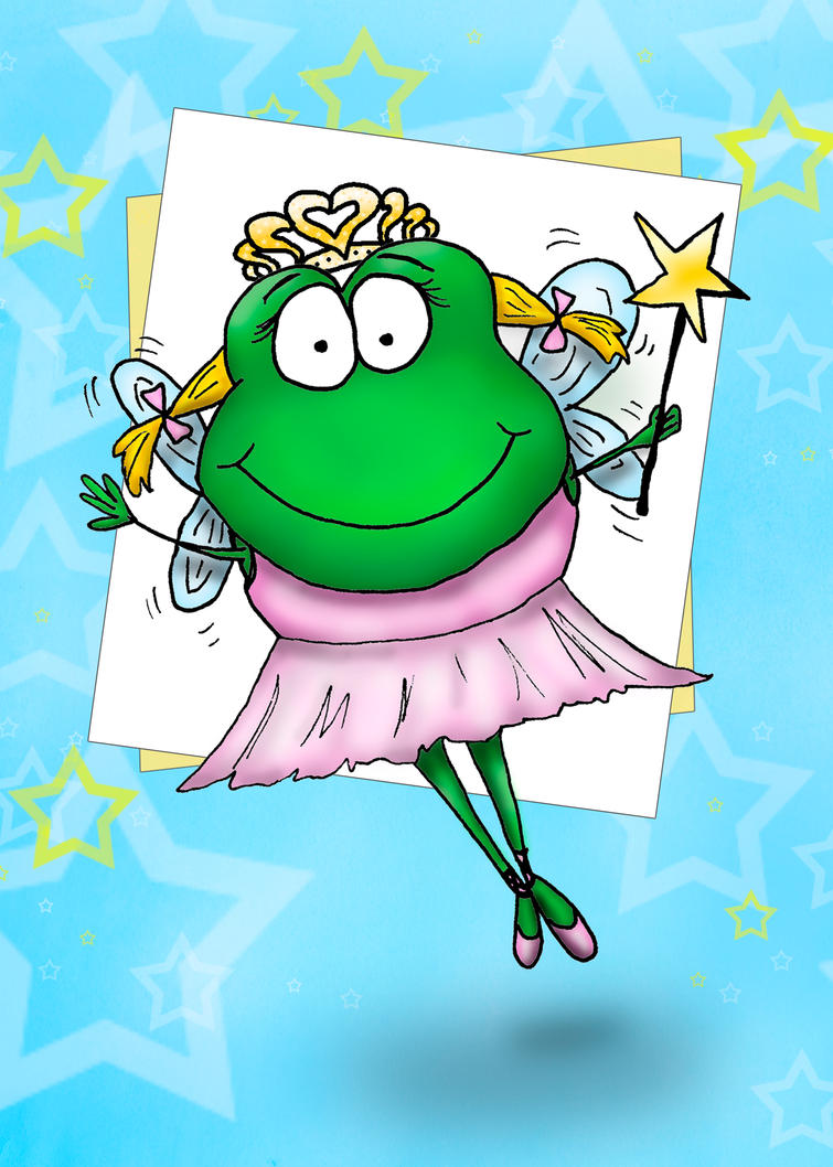 Froggy Fairy Card Design by bnspencer