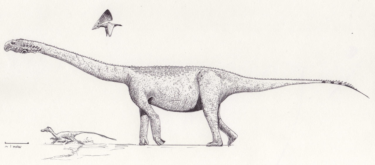 Andesaurus life reconstruction