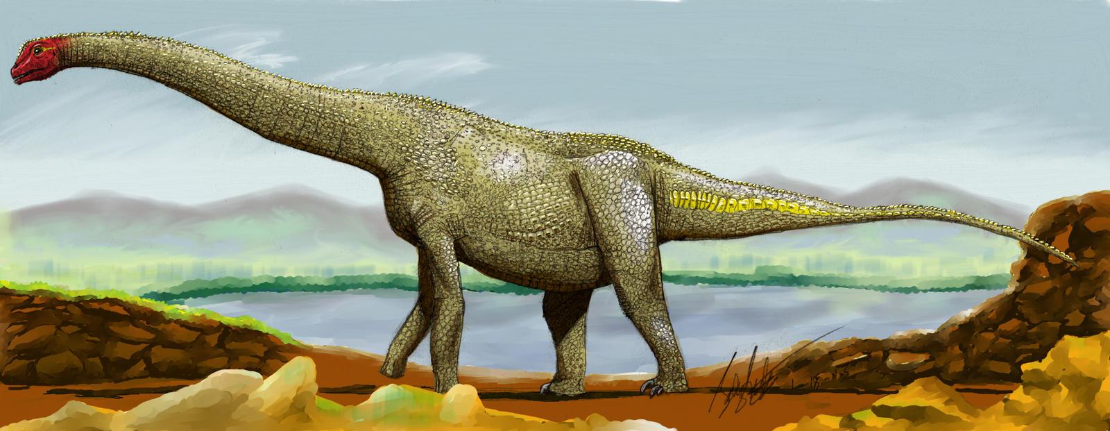 Alamosaurus (in color)