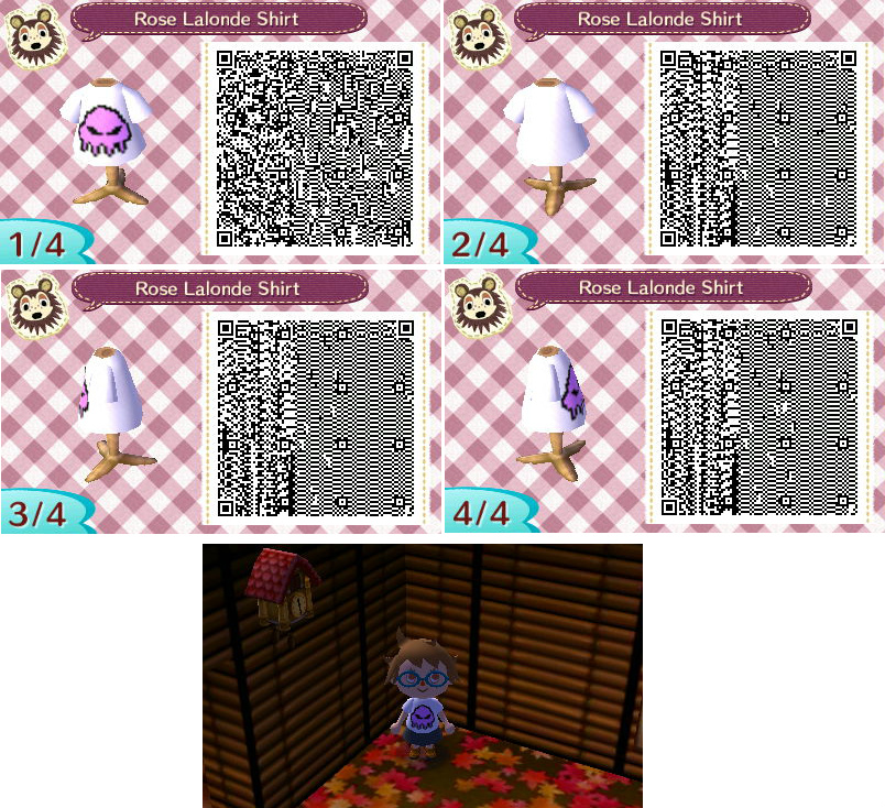 Rose Lalonde Shirt - Animal Crossing QR by Draymorco
