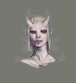 Tiefling inspired character adopt