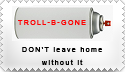 Troll-B-GONE stamp by StampBandWagon