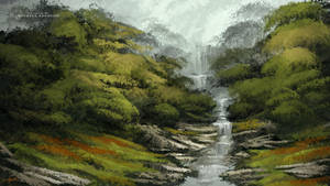 Digital Landscape Painting Loose Painterly Style