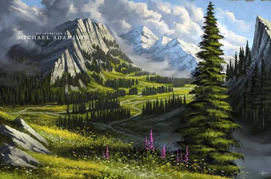 Digital Landscape Painting Tutorial/Lesson 5h