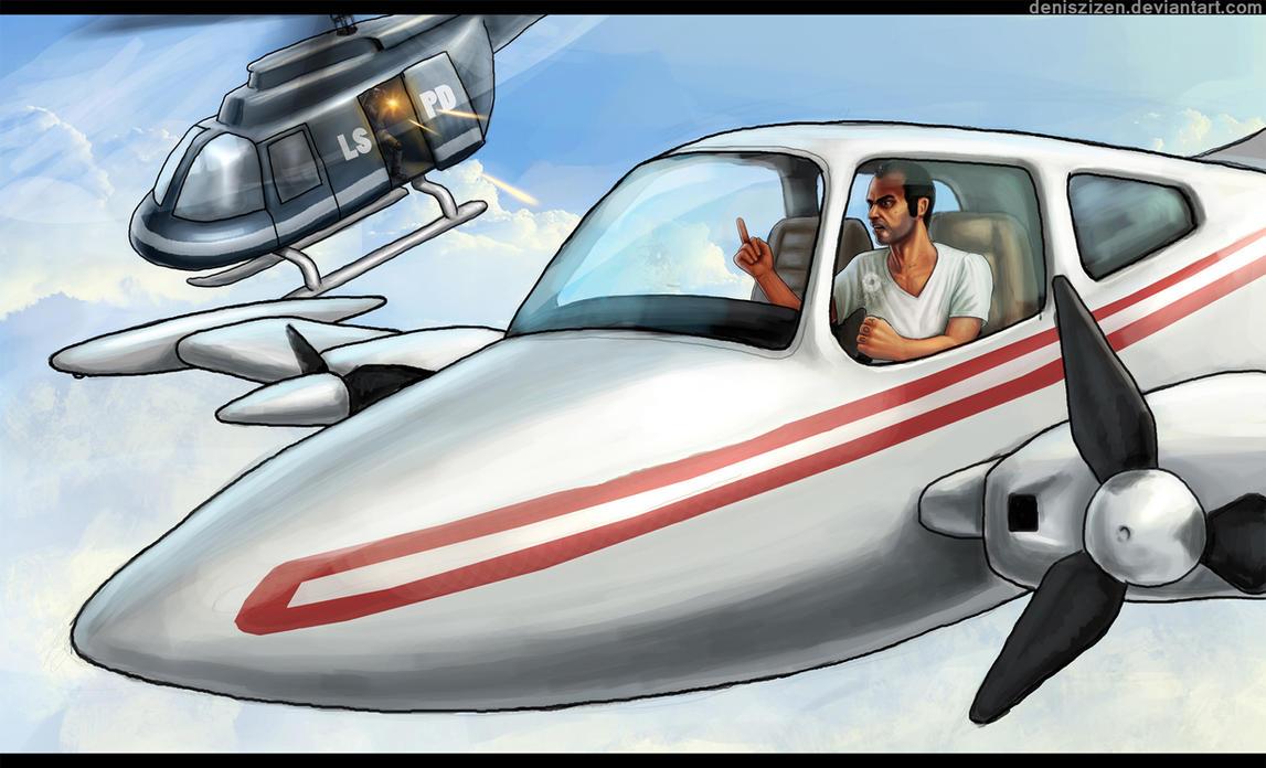 GTA V air battle by Deniszizen