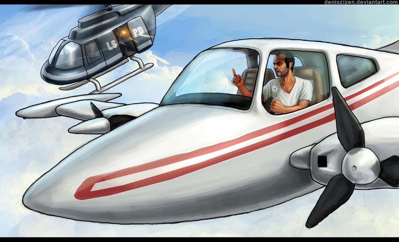 Grand Theft Auto 5 Fan Art Illustrations: Wacky and ...  Grand Theft Aut...