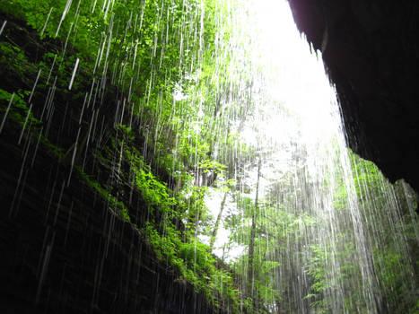 Behind the Falls