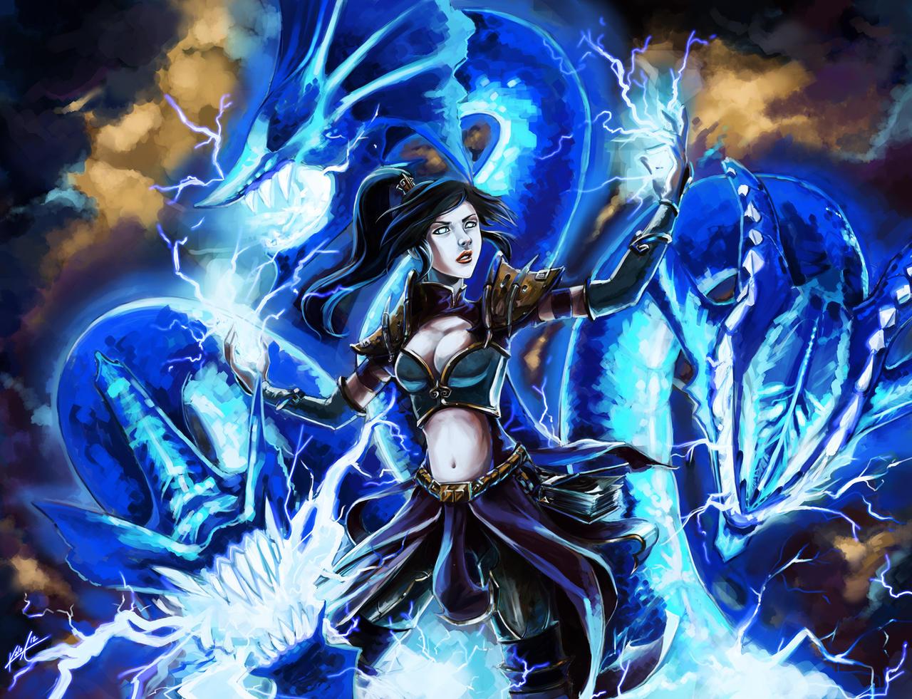 D3- Lightning Hydra by KalaSketch