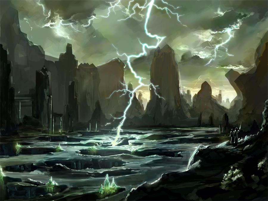 Alien Environment 2 by KalaSketch
