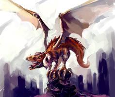 Dragon Sketch by KalaSketch