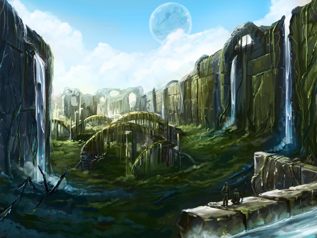 Alien Environment 4 by KalaSketch