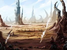 Alien Environment 5 by KalaSketch