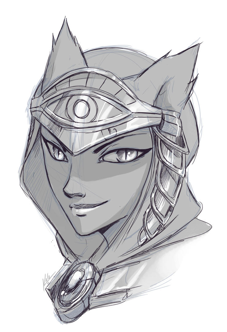 Bastet Sketch by KalaSketch