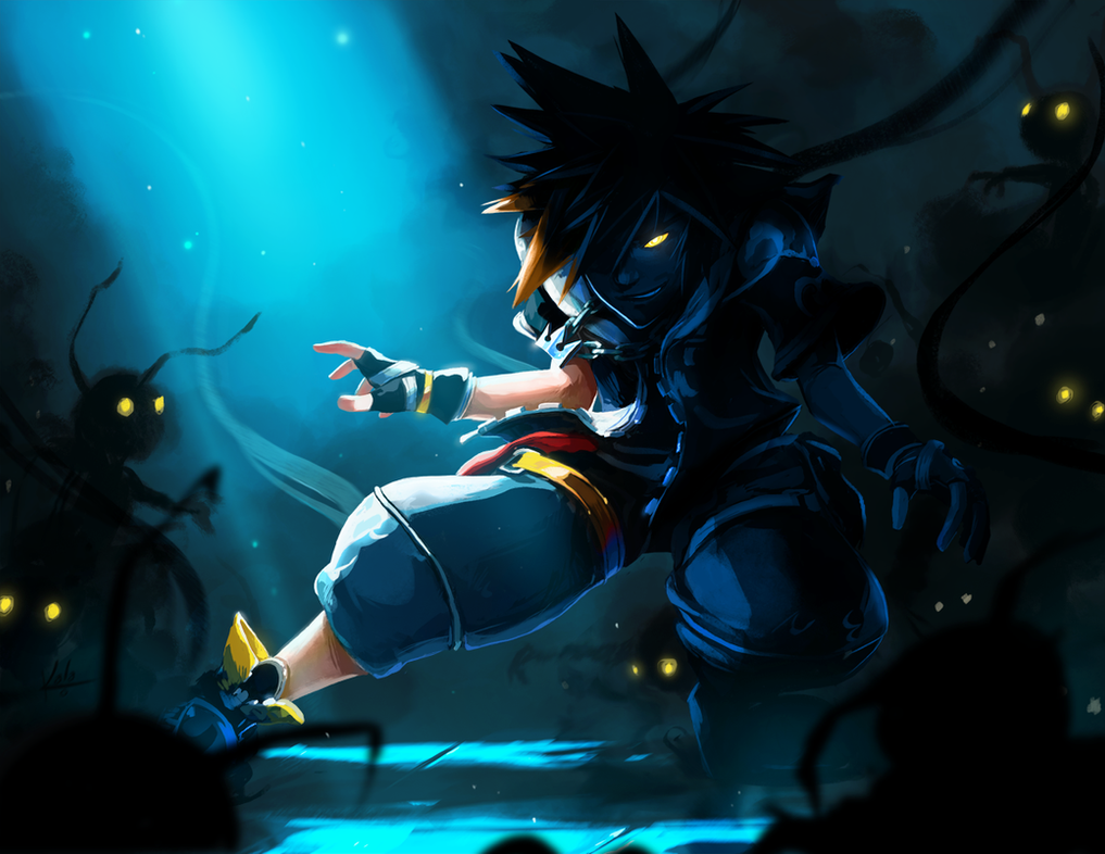 Shadow vs Light by KalaSketch