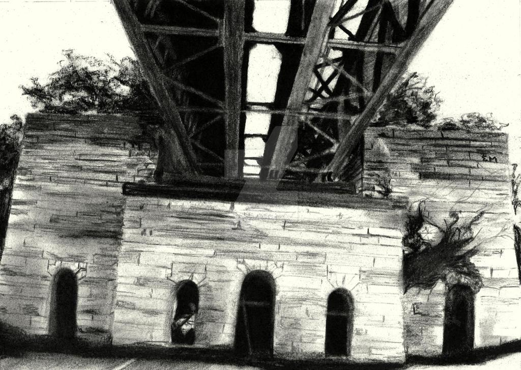Old Railway Bridge over the Ohio by ermiller1415