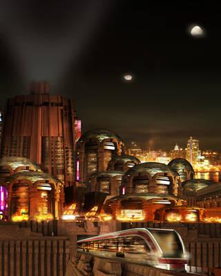 Martian Nightlife by ArtofthePainter