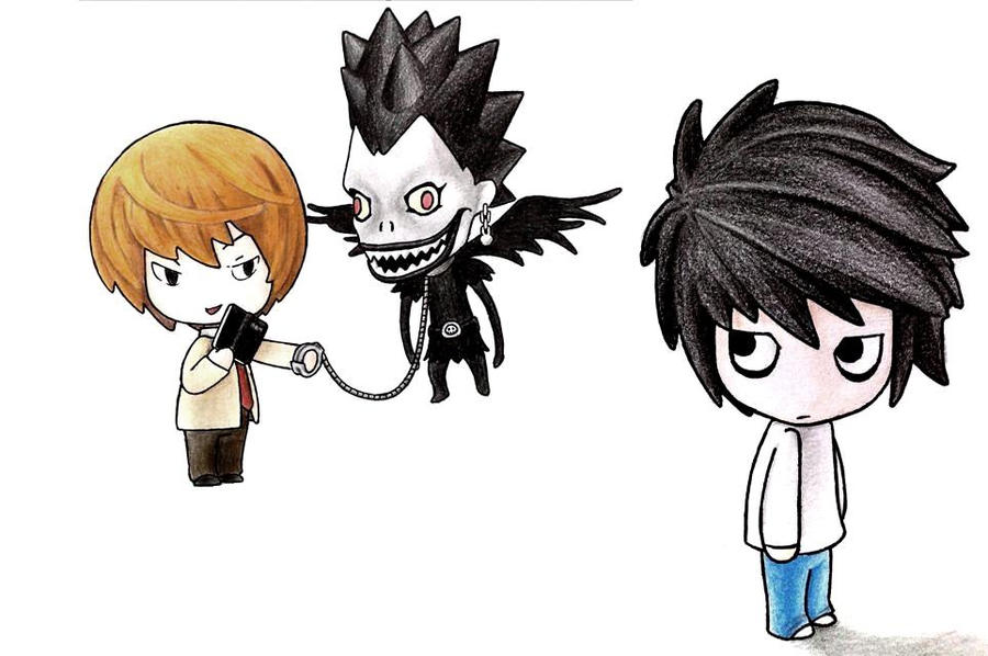 death note light and l chibi - photo #14