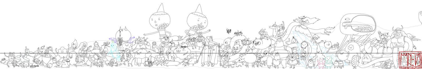 WIP - EVERYONE BURRITO (Adventure Time)