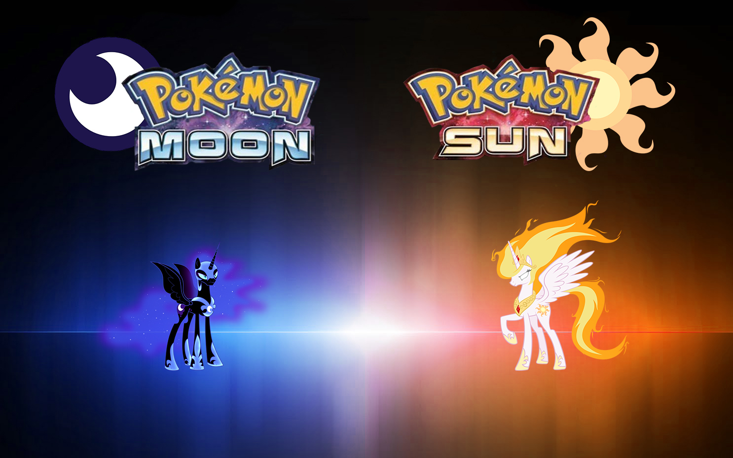 Pokemon Sun And Moon Wallpaper: Pokemon Sun And Moon MLP Version By TheOldMagician On