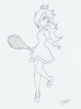 Rosalina tennis player (sketch)