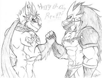 Birthday gift for MetallosaurusRex (sketch)