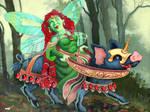 Lady Cliche riding a Blue Bore by MyStarkey
